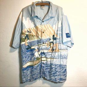 Walt Disney World Hawaiian Button Down Shirt XXL